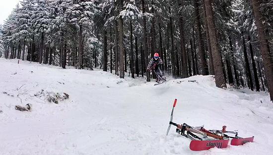 Klinovec DH in Winter