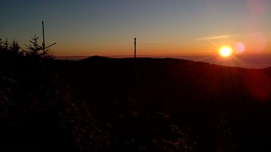 Sonnenuntergang vom Einödriegel (Geisskopf) aus
