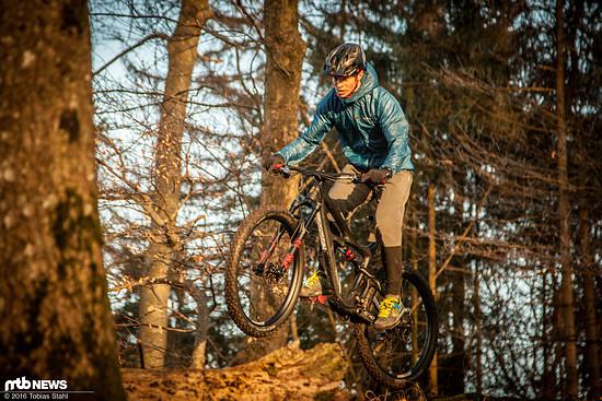 Mit den weicheren Plus-Reifen wird das Bike etwas verspielter