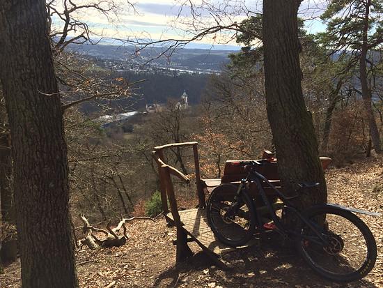 Aussicht ins Lahn- und Rheintal, Trails Horchheimer Höhe und Lichter Kopf, Canyon Spectral AL 7.9
