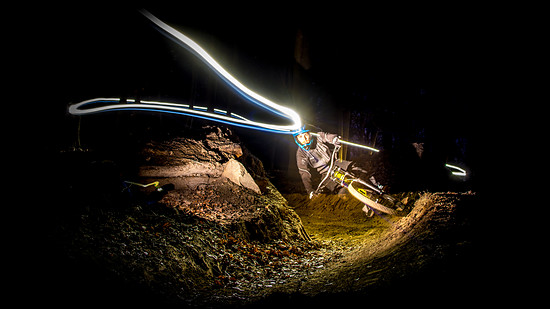 Dennis hitting the Trails at night....