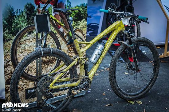 Eigentlich ist dieses Fahrrad unsichtbar, ein Wunder dass wir es entdeckt haben!