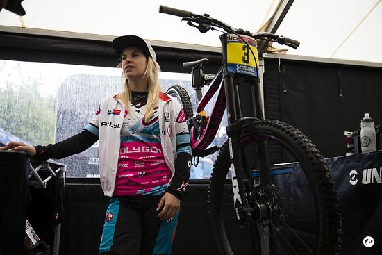 Die neue Weltcup-Führende Tracey Hannah.