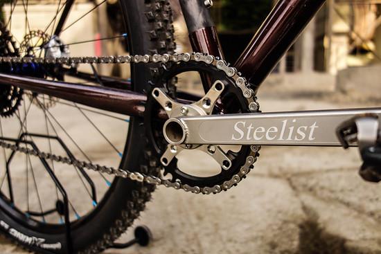 Die schicke Steelist-Kurbel brachte die Bike-Idee ins Rollen