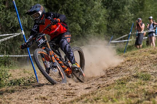 Gaetan Vige - das Hinterrad war etwas eigenwillig unterwegs