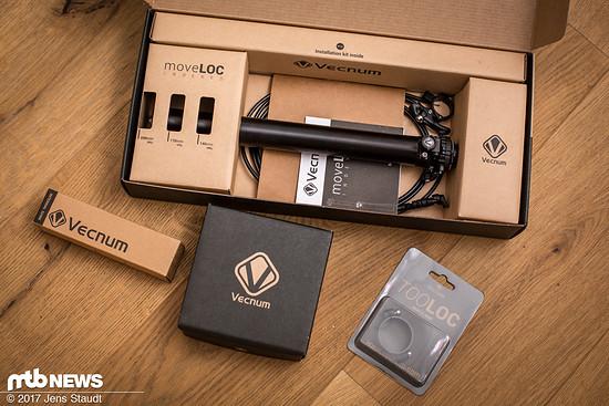 Die Vecnum MoveLOC2 ist schön verpackt, in wenigen Minuten montiert und bietet satte 200 mm Hub