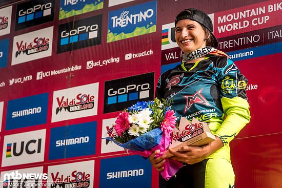 Eleonora Farina wurde auf dem Podium von den zahlreichen Fans lautstark gefeiert
