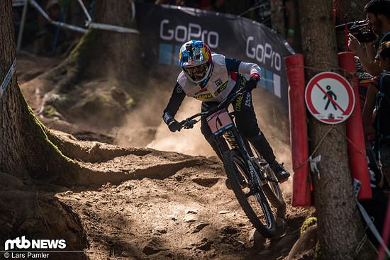 Myriam Nicole hatte viel zu verlieren und brachte einen sicheren Lauf ins Ziel, der für Platz 2 in Val di Sole reichte
