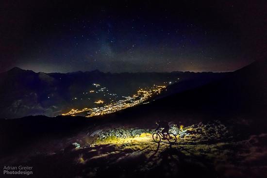 Klare Nacht über Aosta