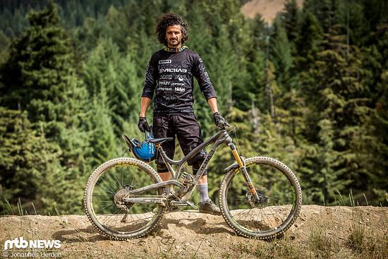 """Rob Heran mit seinem Evil Wreckoning 29"""" Enduro-Bike"""