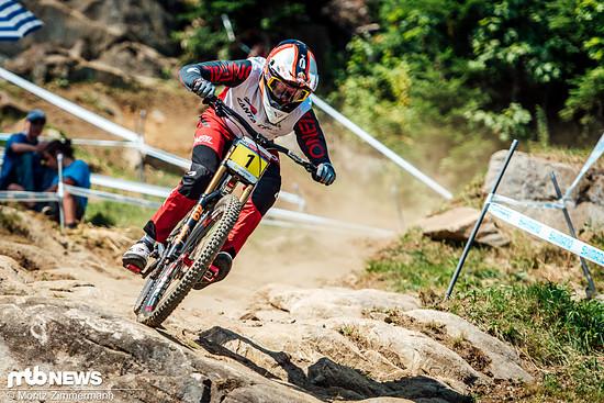 Platz 1 in Fort William, Platz 3 in Leogang, Platz 2 in Andorra und Platz 1 in Lenzerheide: Für Greg Minnaar lief die Saison bis zum Rennen in Mont-Sainte-Anne nach Plan