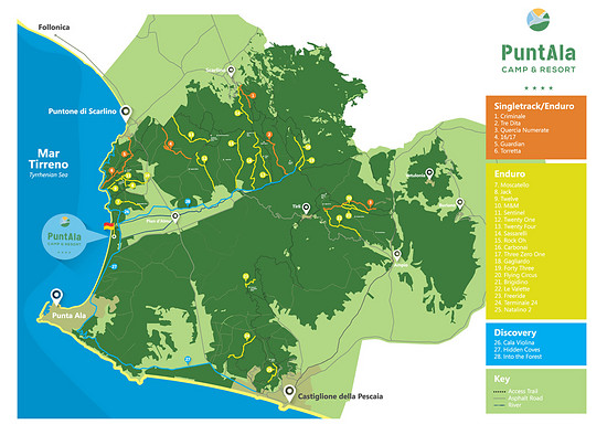 Punta Ala Trail Map