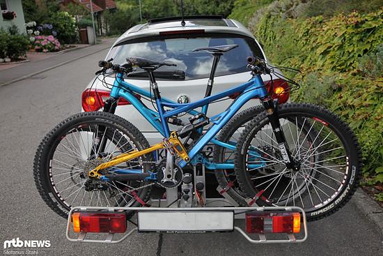 Okay, das Fahrrad wird gar nicht bergab gefahren - aber der Effekt ist der gleiche