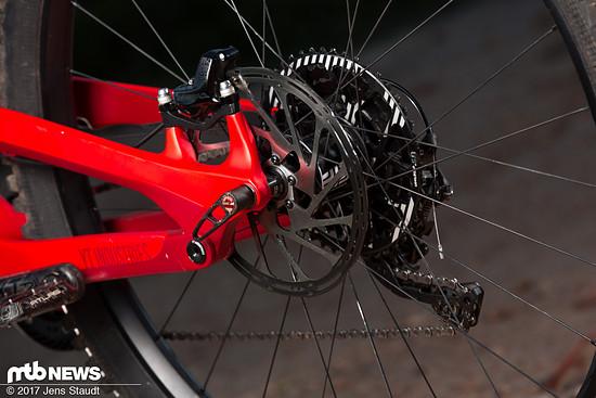 SRAM Code-Bremsen verlangsamen das Capra