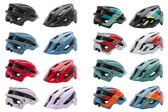 In insgesamt acht verschiedenen Farben bietet Fox die 95,00 € teure Standard-Version vom Helm Flux an.