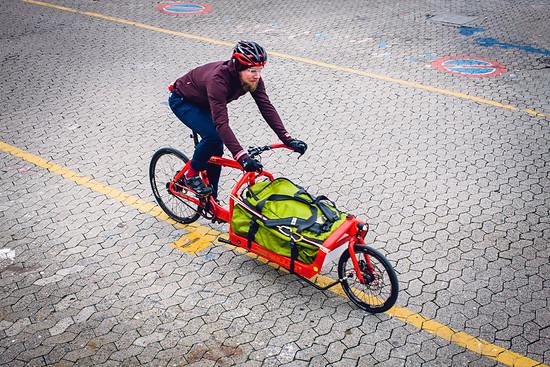 Konstantins Lastenrad kommt fast täglich zum Einsatz