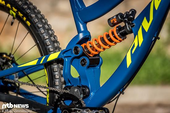 """… das schafft Platz für das 29"""" Wagenrad im Heck und ähnelt dem Design der aktuellen Pivot-Trailbikes."""