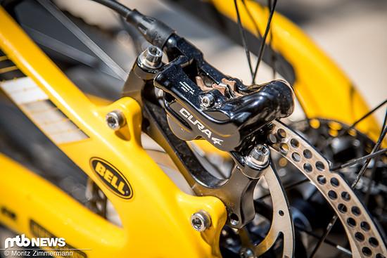 Letztes Jahr konnten wir bereits Loïc Bruni mit einem sehr frühen Prototyp dieser Bremse sichten