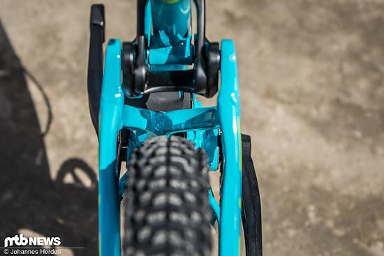 Die Reifenfreiheit gleicht der des Carbon-Bikes