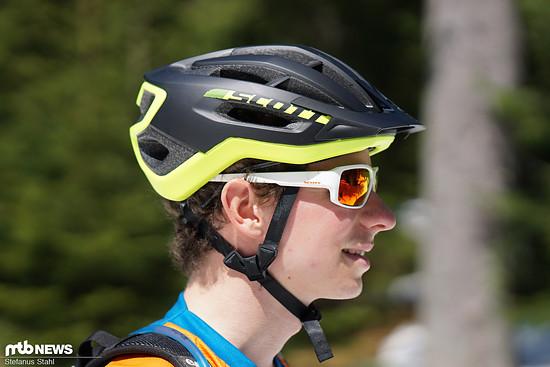 Wir haben verschiedene Brillen mit dem Scott Fuga Plus kombiniert