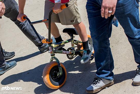 Kleiner Rahmen, fette Reifen: Das Fatboy Mini BMX. Wir sind uns nicht sicher, ob man damit im Skatepark wirklich Spaß haben kann
