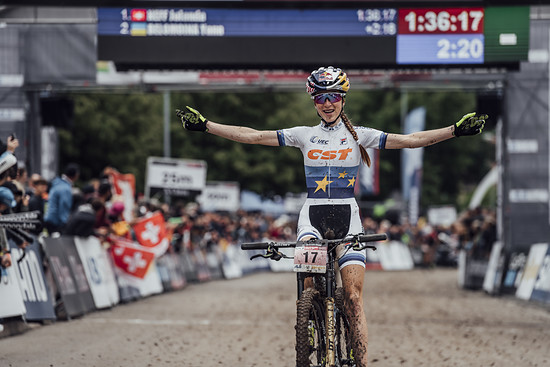 Yana Belomoina performs at UCI XCO World Cup in Albstadt, Germany on May 20th, 2018
