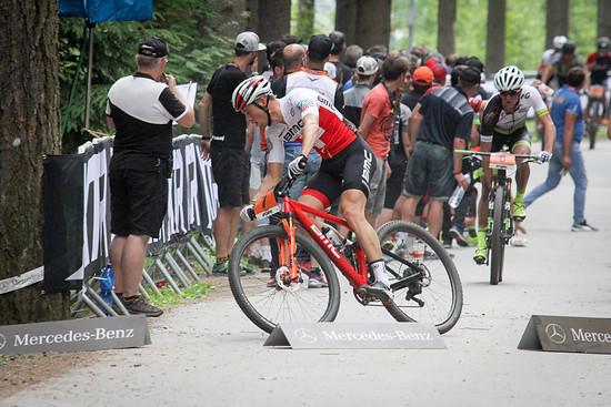 Der Schweizer Meister Filippo Colombo war vom Start weg in der Spitzengruppe vertreten.