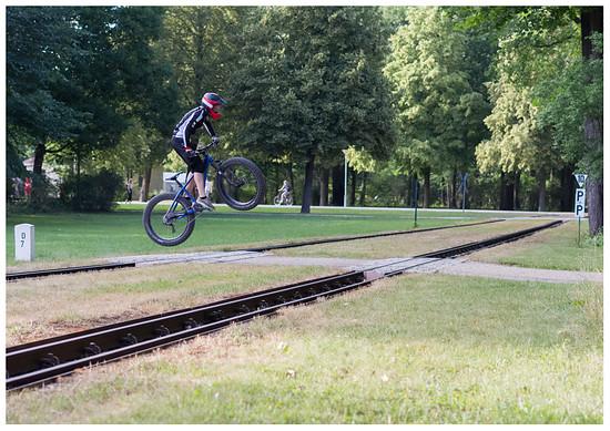 Fatbike Bahnüberquerung 1