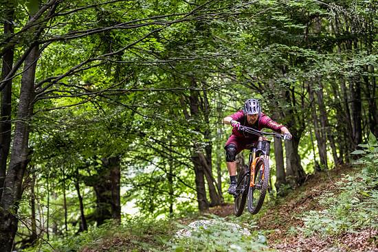 Kleine Sprungeinlagen im oberen Teil – der Soča Valley-Trail bot alle Bedingungen