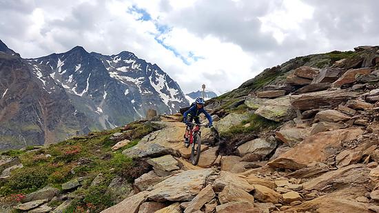 """Max mit seinem VPACE Moritz26 auf dem """"Olle Weite"""" Trail in Sölden"""