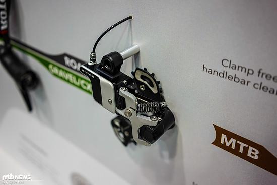 Das Schaltwerk wirkt mit großem Hydraulikbehälter und breiter Parallelogramm-Abstützung recht flächig