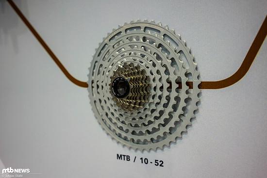 Für Mountainbikes sieht Rotor maximal eine Kassette mit 10-52 Zähnen vor