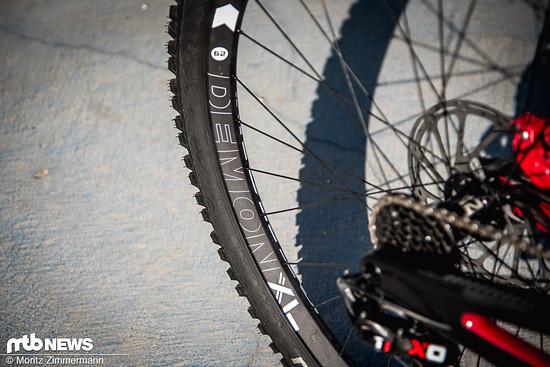 Die Novatec Demon XL-Laufräder wurden in Lošinj von Schwalbes Procore-System geschützt