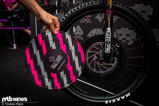 Der neue Muc-Off Bremsscheiben-Schutz soll die Scheiben während der Reinigung und Pflege des Fahrrads vor Verunreinigungen durch Pflegemittel oder Reiniger schützen.