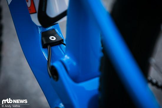 Ein ausgeklügeltes System an innenverlegten Zügen sorgt für ein geschmeidiges Äußeres des Rades