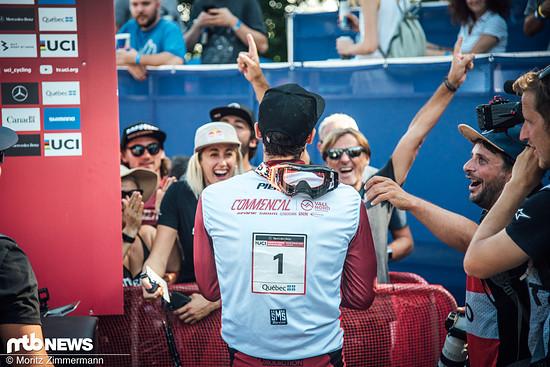 Gleichzeitig hat sich Amaury Pierron vorzeitig den Titel im Gesamt-Weltcup sichern können