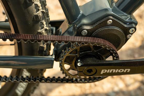 ... garantiert das Pinion C-Line Getriebe samt Gates Carbonriemen