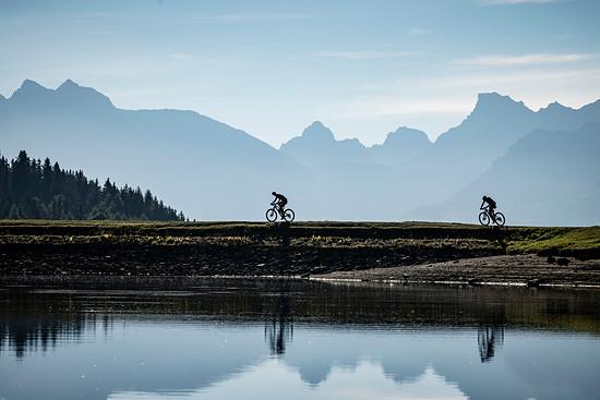 Einmal mehr bietet das Rennen im Wallis atemberaubende Landschaftsmotive