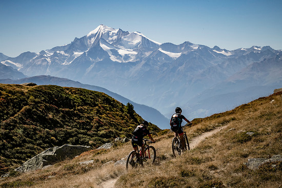 during Stage 1 of the 2018 Perskindol Swiss Epic held in Bettmeralp, Valais, Switzerland on 11 September 2018. Photo by Alex Buscher.