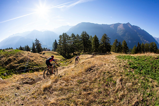 Riders during Stage 1 of the 2018 Perskindol Swiss Epic held in Bettmeralp, Valais, Switzerland on 11 September 2018. Photo by Nick Muzik. PLEASE ENSURE THE APPROPRIATE CREDIT IS GIVEN TO THE PHOTOGRAPHER