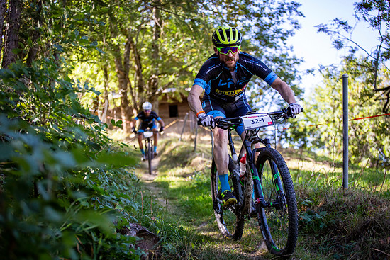 Curdin Luthi and Carlo Siefermann during Stage 1 of the 2018 Perskindol Swiss Epic held in Bettmeralp, Valais, Switzerland on 11 September 2018. Photo by Nick Muzik. PLEASE ENSURE THE APPROPRIATE CREDIT IS GIVEN TO THE PHOTOGRAPHER