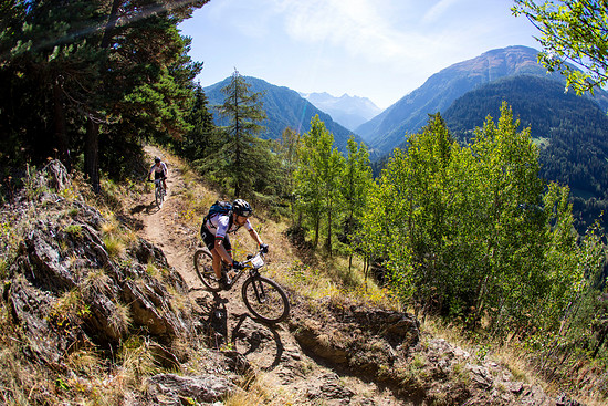 Staale Josdal and Arne Rettedal during Stage 1 of the 2018 Perskindol Swiss Epic held in Bettmeralp, Valais, Switzerland on 11 September 2018. Photo by Nick Muzik. PLEASE ENSURE THE APPROPRIATE CREDIT IS GIVEN TO THE PHOTOGRAPHER