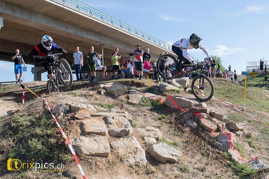 Halbfinale: Andreas Huber und Ingo Kaufmann im Rock Garden