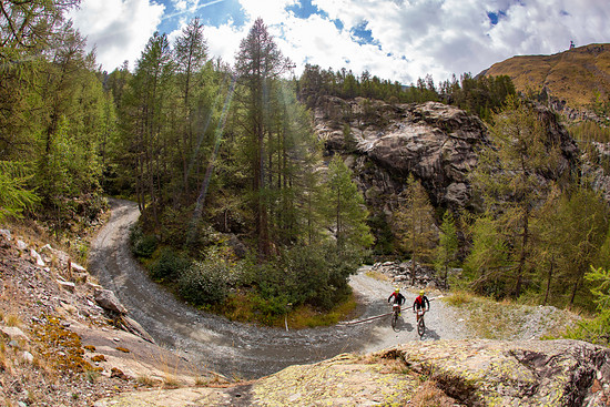 Kevin Vermaak and Jakes Jacobsen during Stage 4 of the 2018 Perskindol Swiss Epic held from Grächen to Zermatt, Valais, Switzerland on 14 September 2018. Photo by Nick Muzik. PLEASE ENSURE THE APPROPRIATE CREDIT IS GIVEN TO THE PHOTOGRAPHER