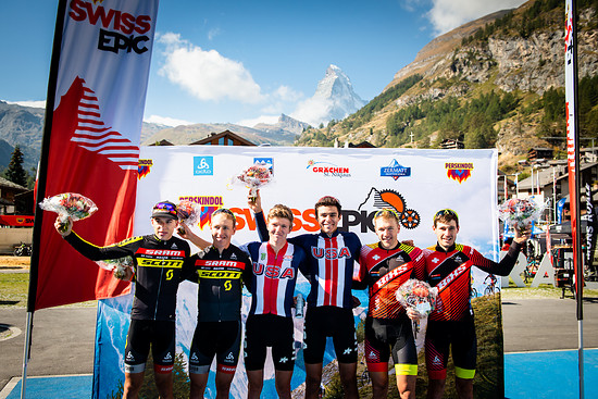 Die Schnellsten des Tages: Team USA Red sicherte sich auf dem letzten Teilstück nochmals den Tagessieg.
