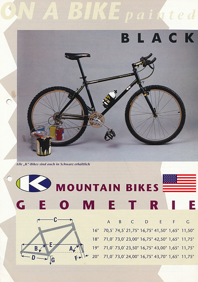 K-Bikes (Kona) Katalog '91 (5von8)