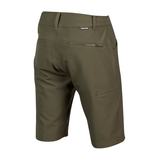 Die Shorts sind mit fünf Taschen und einer versteckten Sicherheitstasche ausgestattet, so dass wichtige Dinge verstaut werden können.