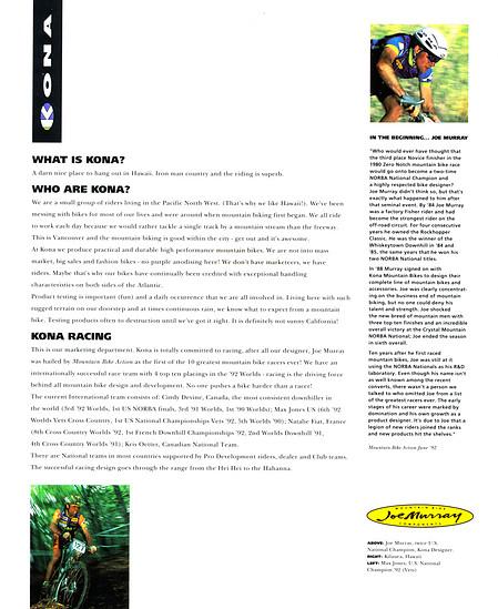 Kona (K-Bikes) Katalog '93 (2von16)