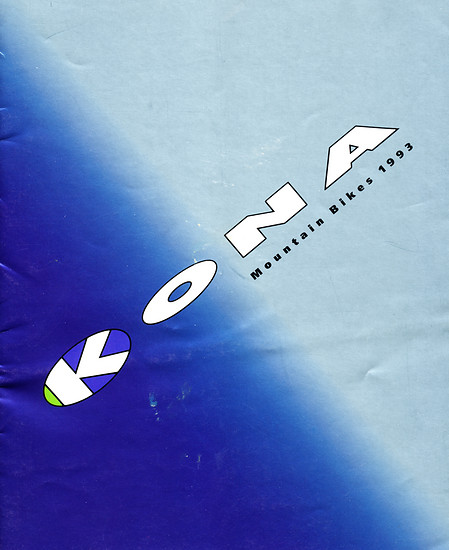 Kona (K-Bikes) Katalog '93 (1von16)