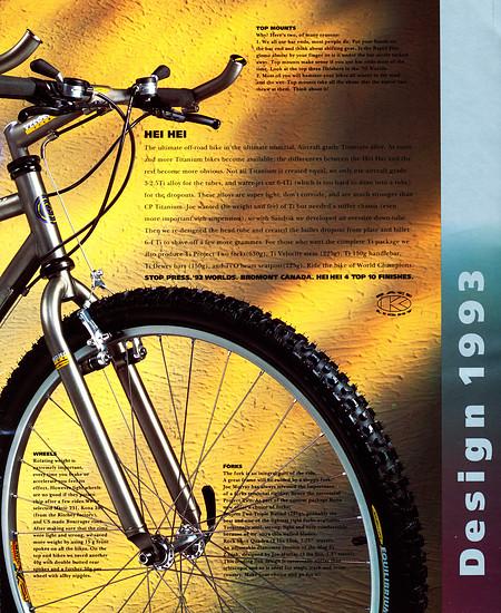 Kona (K-Bikes) Katalog '93 (5von16)
